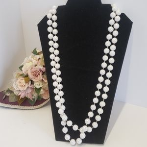 Gorgeous Vintage Acrylic Luster Beaded Necklace